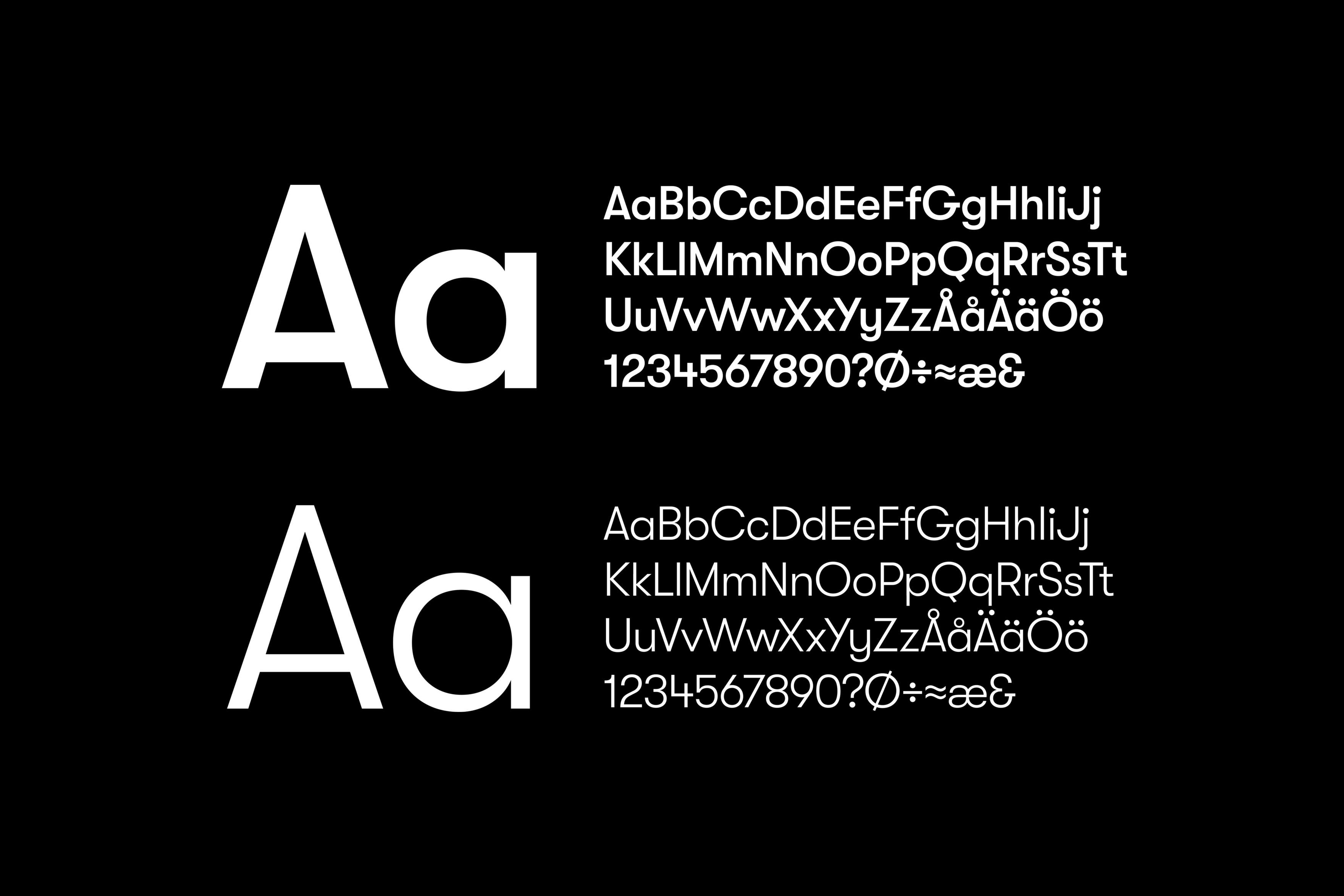 Södra Strandgatan 12 - Typografi
