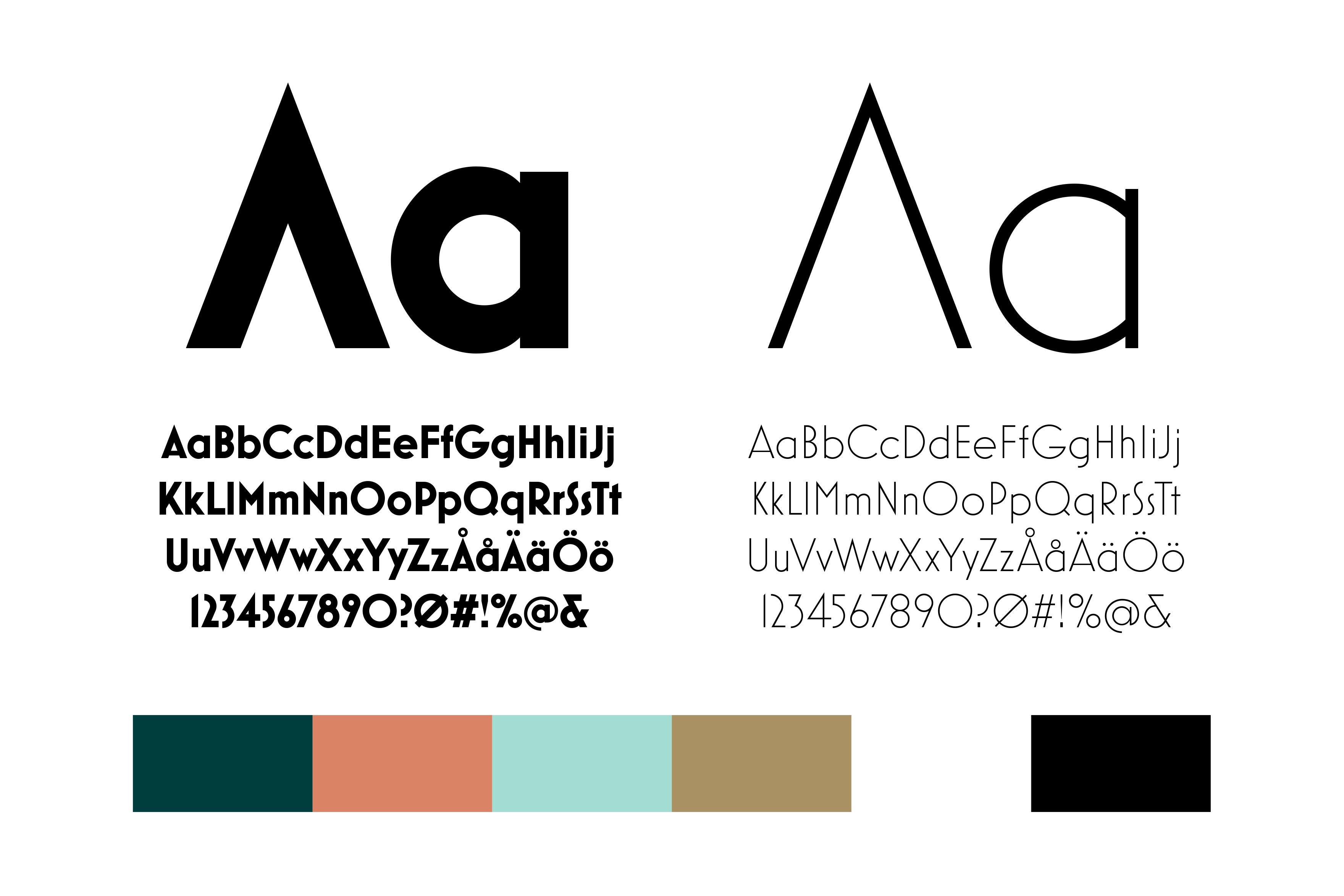 Ciro - Typografi och färger