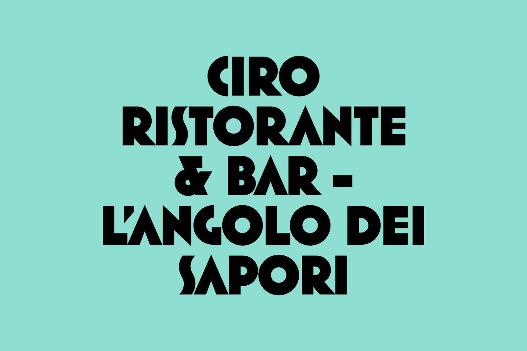 Ciro - Typografi 2
